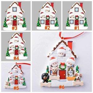 2020 Christmas resin Xmas family DIY handwritten name tree pendant Snowman pendant quarantine survivors Xmas pendant Christmas Decorations