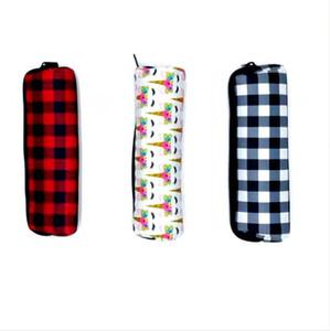 Astucci Bag Nero Bianco Rosso multifunzione grande capacità neoprene Pen Borse Student bella scuola Supplies DDA803