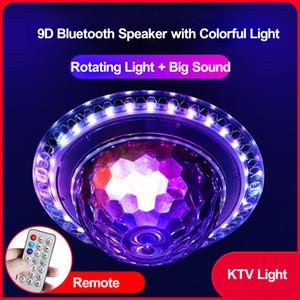 Discoteca del proiettore della palla del proiettore del proiettore delle luci Bluetooth dell'altoparlante Bluetooth con la porta USB TF della porta FM Home KTV LED Barra del palcoscenico LUCCIA ROTATICA RGB Night Light