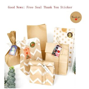 Kraft Paper Bag Treat Candy Chevron Polka Dot Cookie Packaging Party Favors Wedding Color