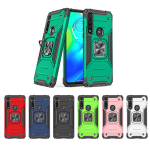 For Motorola Moto G Fast G Stylus G9 Plus G8 Play G7 Power TPU PC Tough Kickstand Phone Cover Magnet Car Holder Case