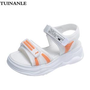 TUINANLE Gladiador Plataforma Sandalias para mujer 2021 Sandalias de verano Sandalias Cintura Tacones Altos Zapatos Helva Hook Loop Sandles Mujeres