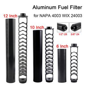 """Aluminiumautoöl Brennstofffilter Lösungsmittelfalle 10 """"12inch 1/2-28 5/8-24 Einzelkern für Autos NAPA 4003 WIX 24003"""