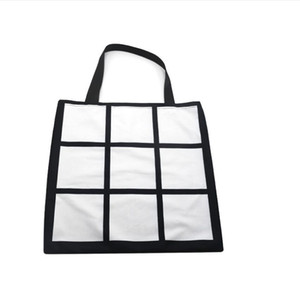 Sublimation Grid handbag Tote Bag Blank White DIY Heat Transfer Shopping Bag 9 Panels Cloth Reusable Storage Gift Bag Handbag 7755