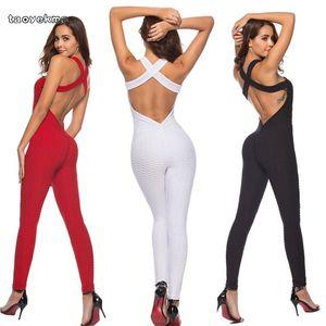 Fitness Clothing Yoga Set Sport Wear Women Sexy Backless Tracksuit Running Jumpsuit Sport Suit Gym Yoga Leggings Sportswear C54
