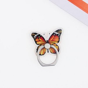 8 Color Cartoon Wing Insect Phone Ring Grip Universal 360° Adjustable Holder Car Desk Hook Stand Stent Mount Kickstand For All iPhone