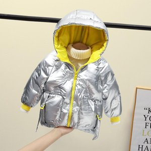 Childrens Jacket Fashion Winter Coat Candy Color Jacket For Girls Hooded Boys Cotton Clothing Baby Kids Jacket 2-6 Age 201118