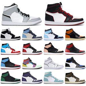 With Socks men basketball shoes jumpman 1 1s Pine Green UNC Mocha Chicago Obsidian Shattered Backboard women mens trainer sports sneaker