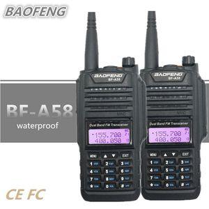 2pcs Baofeng BF-A58 Walkie Talkie 방수 UHF VHF CB 라디오 아마추어 10km 장거리 Talkie Walkie UV-9r Plus HF 트랜시버