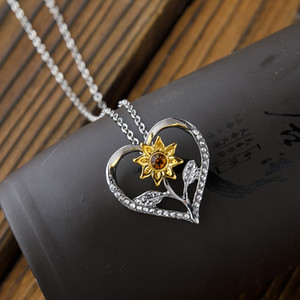 Personalizzato Sei il mio Sunshine Silver Gold Sunflower Necklace Womens Best Friends Best Bitches Valentine Collana