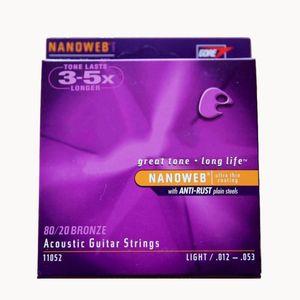 6pcs = 1 conjunto marca acústica strings fósforo bronze shade 11025 16027 18052 11052 11002 11027 11100 16002 16077 16102 guitarra string
