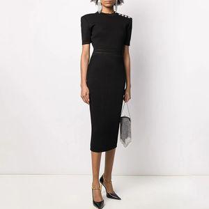 2021 Бренд та же стиль платье Flora Print Spring a Line Crew шея середина теленка с длинным рукавом полиэстер kint платье женщин одежда ушали
