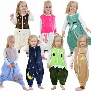 Autumn Winter Sleeping Bag Flannel Cartoon Clothes Baby Girl Christmas Pajamas Baby Sleeping Toddler Boys Warm Sleepwear 1 4 6 Y B1203