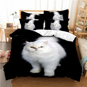 3D Dogs Pet Dog Cat Design Bedding Sets Duvet Quilt Cover Set Comforter Pillowcase King Queen Size