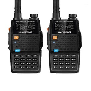 2PCS Baofeng Walkie Talkies UV-5R 4thGeneration Black Knight 136-174 400-520MHZ Professional FM Transceiver With h1