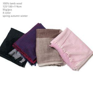 Naizaiga 100% de lana de lana de lana PRIGUIENTE SCARF AIRE ACONDICIONAMIENTO CALIENTE MANTE CALIENTE, DQYR121