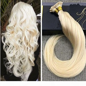 Human Hair I tip Extensions 613#color I Tip Fusion Prebonded Hair Extensions Stick Keratin I Tip Hair 100g