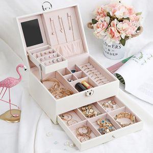 Casseg Drawer Jewlery Box Large Multi-Layer Pull Jewelry Box Portable Multi-Function Storage Box Can Be Customized Z1123