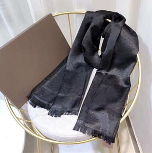 Hot Selling Silk Fashion Man Women 4 Season Shawl Scarf Letter Scarves Size 180x70cm 6 Color High Quality