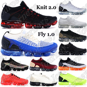 Neue 2.0 Classic Fly 1.0 Laufschuhe Männer Frauen Triple Black Multi Color White Sneakers Chinesisches Neues Jahr Midnight Lila Trainer