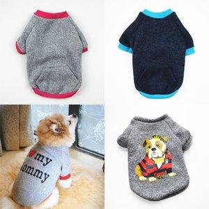 Lettre de chien Sweater Pull Miniature Dogs Chats Peluche Gardez des vêtements chauds et automne Multi motif Porte fournitures 8xx J2