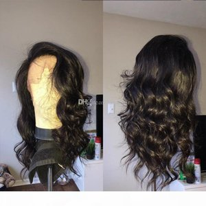 9A Pre Plucked Human Hair Lace Front Wigs With Bangs Brazilain Virgin Loose Wave Full Lace Wigs For Black Women With Baby Hair