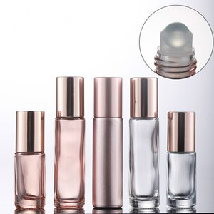 5ml 10ml Rose gold eye massage perfume essential oil roll-on empty bottle Customizable LOGO