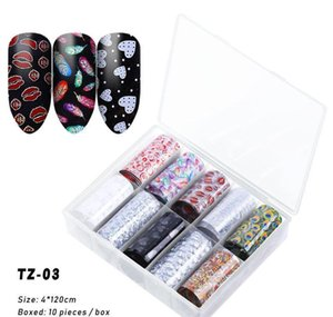 Na063 10 Roller Starry Sky Nail Foils Holographic Transfer Water Decals Nail Art Stickers 4*120cm Diy Image Nail T wmtSnb xhhair