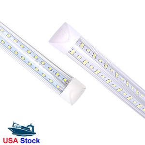 Free shipping 25pcs 2ft 3ft 4ft 5ft 6ft 8ft Led Tubes T8 Integrated V-Shaped Lamp Double Line SMD High lumens led bulbs tubes In Stock US