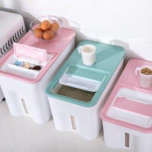 5.5 / 9kg Plastic Cereal Dispenser Scatola di immagazzinaggio cucina Cucina Dispenser di riso Dispenser Organizzatore GRAIN CONTACOMONATORE ISTANNO