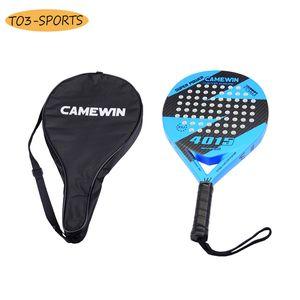 Professional full Carbon beach Tennis Paddle Racket Soft EVA Face Tennis Raqueta With Bag For adult Training Accessories Q1202