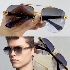 Grand-EVO Due occhiali da sole di moda con protezione per uomini Vintage Metallo ovale Metallo metallica popolare Qualità di alta qualità Viene fornito con custodia classica occhiali da sole