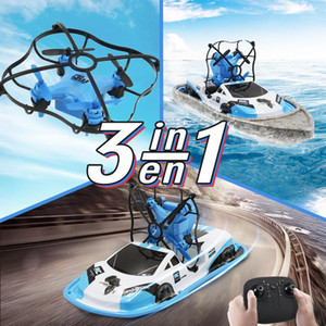 3 In 1 RC Drone Boat Car Water Ground Air Mode Three Modes Headless Mode Altitude Hold RC Helicopters Toys For Kids1
