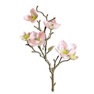 New 2Pcs Set Simulation Flower Artificial Fake Flowers Magnolia Floral Wedding Bouquet Wedding Party Home Decor Christmas Gift*·