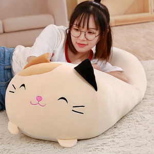 1Pc Doll Down Cat Pillow Cushion Brinquedos With PP Cotton Stuffed Animal Plush Toys Dolls Kids Home Decoration Y200723