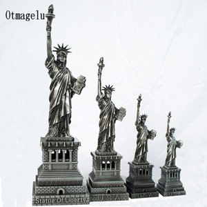 Hediyelik eşya ABD Özgürlük Heykeli Metal Dekorasyon Süsler Model Ev Ofis Dekor Dekoratif El Sanatları Figürinler Minyatürleri Hediye