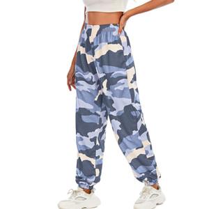 Ladies Casual High Waist Hip Hop Trousers Pants Fashion Women Cargo Camo Military Army Combat Camouflage Long Pants Hot Capris