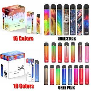 Onee Stick Plus Disposable Device Kit 1800 2200 Puffs Prefilled Pod 1100mAh Battery Vape Empty Pen VS Bar Plus Flow XXL Kangvape