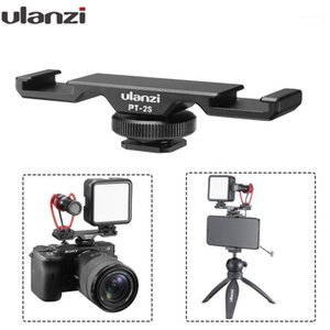 Ulanzi PT-2S Dual Hot Shoe Mount Adapter Microphone Extension Bar for Boya BY-MM1 ULANZI VL49 LED Video Light Gimbal Accessories1
