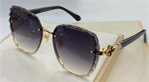 New Fashion Design Sunglasses H Picotin Square Taglio Lente Plum Blossom Pile Testa intarsiata Diamond Temples UV400 Lente Top Quality