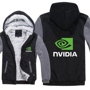 Winter CPU Nvidia Hoodies Men Geforce GTX Coat Pullover Wool Liner Jacket Nvidia Sweatshirts Hoody HS-060X1121