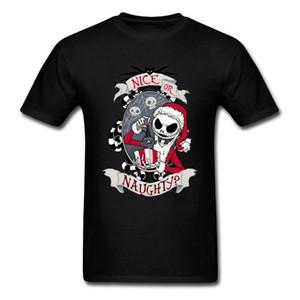 Scary Santa Nightmare Before Christmas Jack T Shirt Horror Skull Skeleton Summer Fall Round Neck Cotton Tshirt Men Saints' Day 1118
