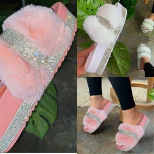 QGNSN Hohe Qualität Australische Stiefel Hohe Qualität Kinder Frauen Designer Slipper Pelz Designerry Dener Slipper Slipper Flusen Yeah Pantoufles