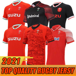 2020 2021 Wales Rugby Jersey 20 21 Home Away Galês tamanho S-5XL adulto de alta qualidade rugby camisas