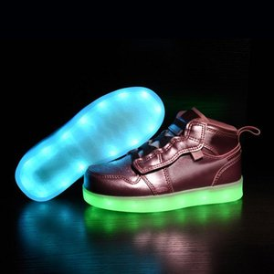 2020 LED light night star outdoor Children basketball shoes boy girl youth kid sport Running basketball boots Sneaker
