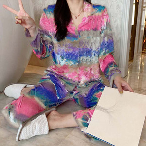 Camouflage Print Pajama Sets Smooth Comfortable Women's Sleepwear Indoor Casual Bath Best Sleep Must Underwear Sets Hot