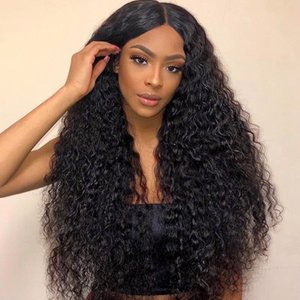13x4 Curly Lace Front Human Wigs Deep Wave Wig Brazilian Remy Hair PrePlucked With Baby Hair Wig For Black Women Human Hair