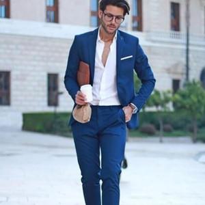 Royal Blue Men Suits Business Formal Wedding Suits For Men Best Man Blazer Groom Tuxedo Slim Fit Costume Homme Mariage Mens Jacket Quality