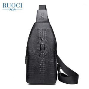Ruoci New Men PU in pelle PU di alta qualità cross body messenger spalla borsa da viaggio moda moda casual sling pack petto borsa borsa sac1