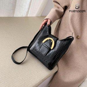 Patrón de piedra PU Cuero Crossbody Bolsas para mujer Color Sólido Hombro Messenger Bag Solid Color Messenger Bag